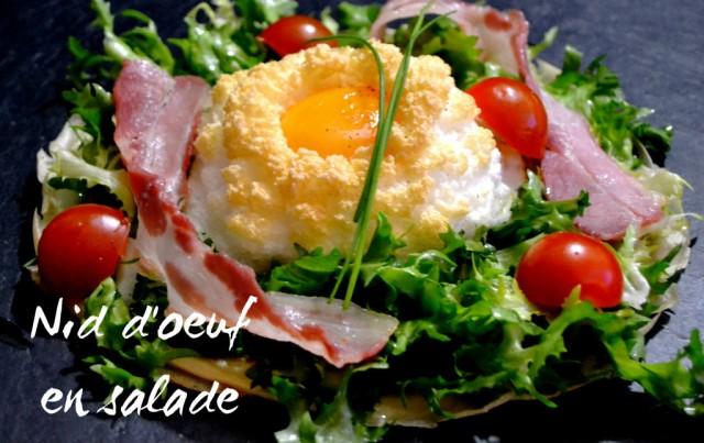 Nid d'oeuf en salade