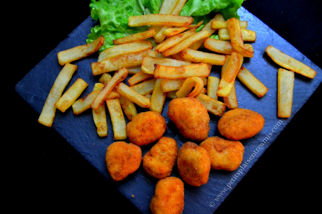assiette nuggets frites