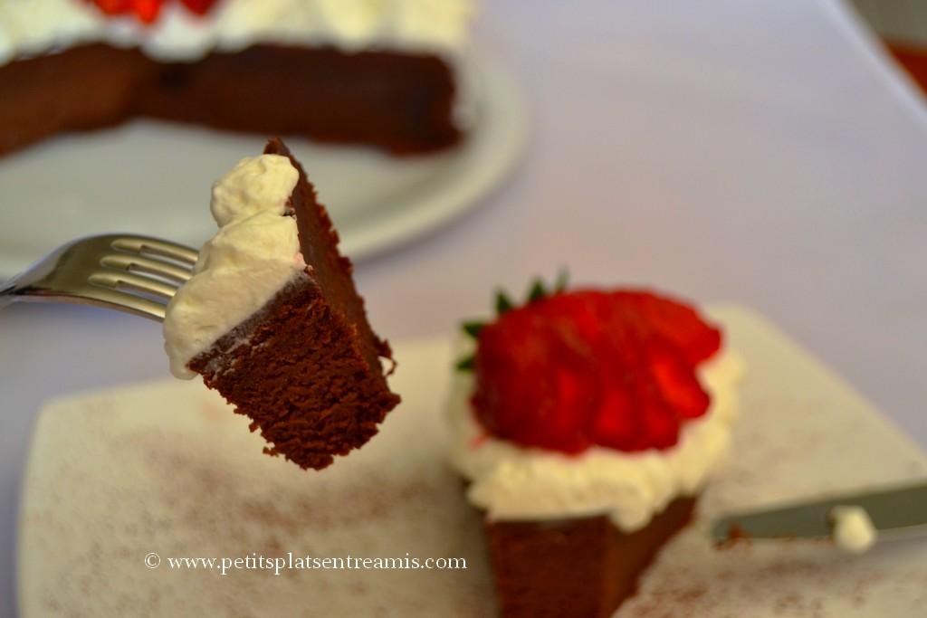bouchée de gâteau au chocolat
