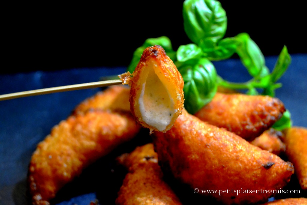 bouchée feuilleté parmesan basilic