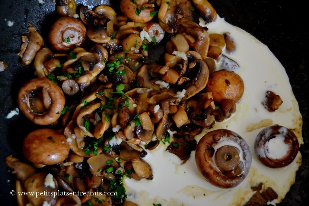 champignons et crème