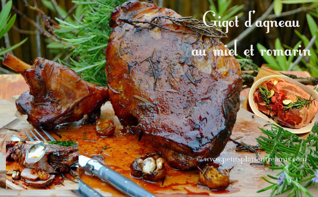 Gigot d'agneau au miel et romarin