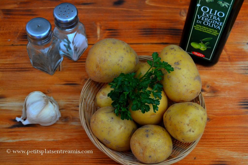ingrédients pour paillason de pommes de terre