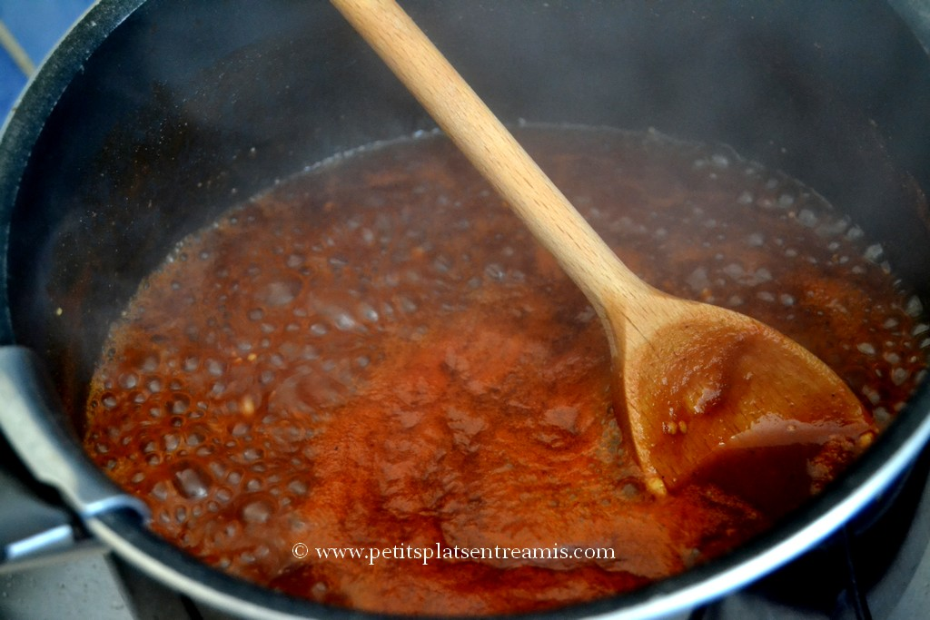 préparation sauce barbecue