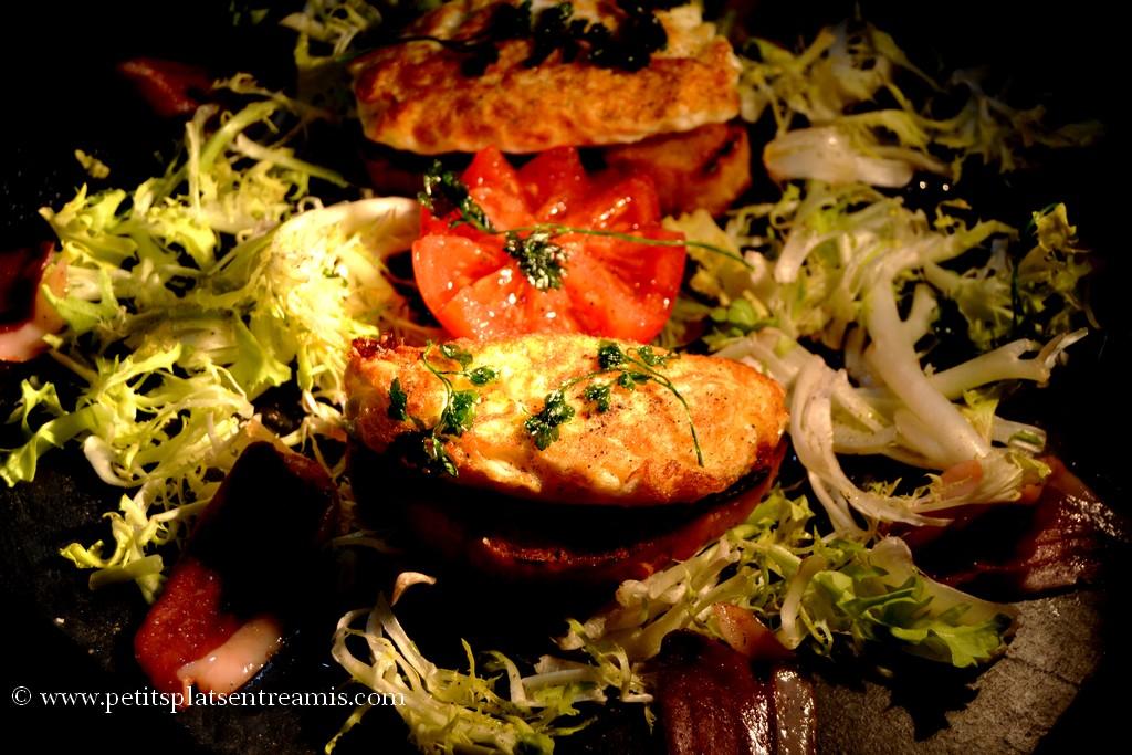 salade d'oeufs frits