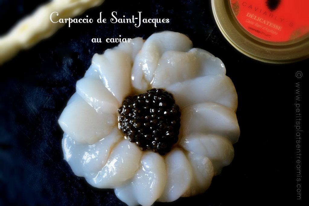 Carpaccio de Saint-Jacques au caviar 2