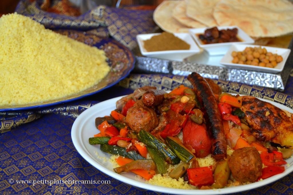 assiette de couscous royal