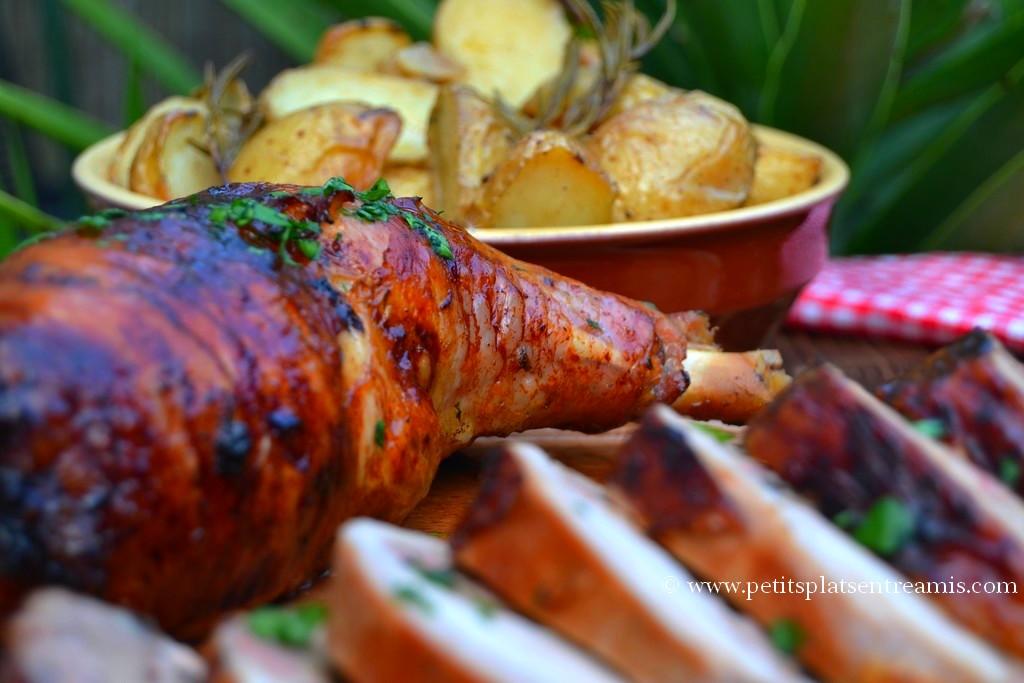 cuisse de dinde et pommes de terre