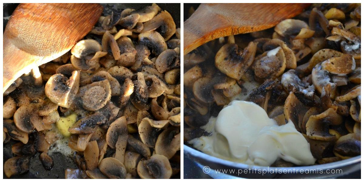 cuisson champignons