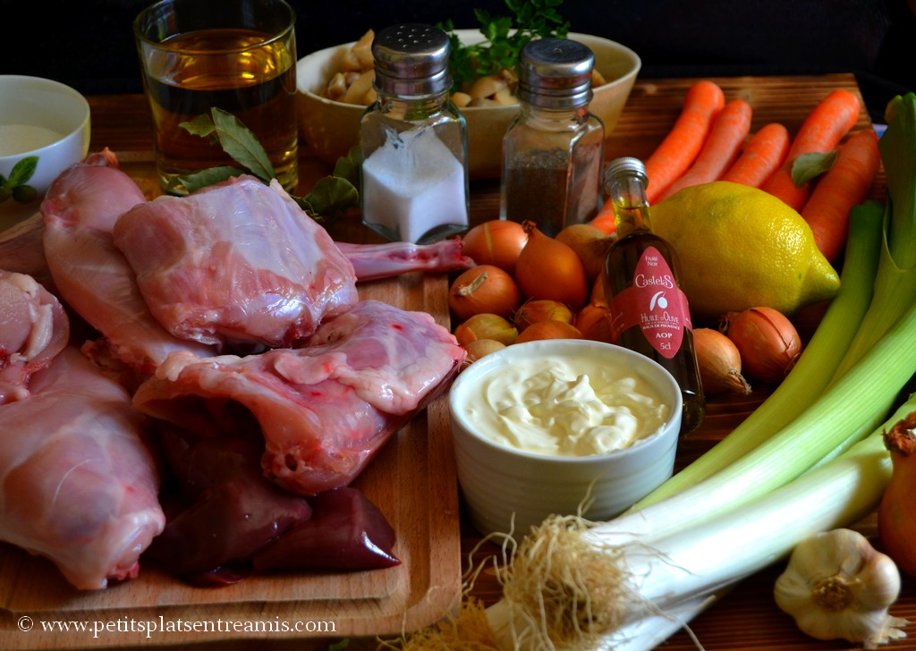ingrédients blanquette de lapin