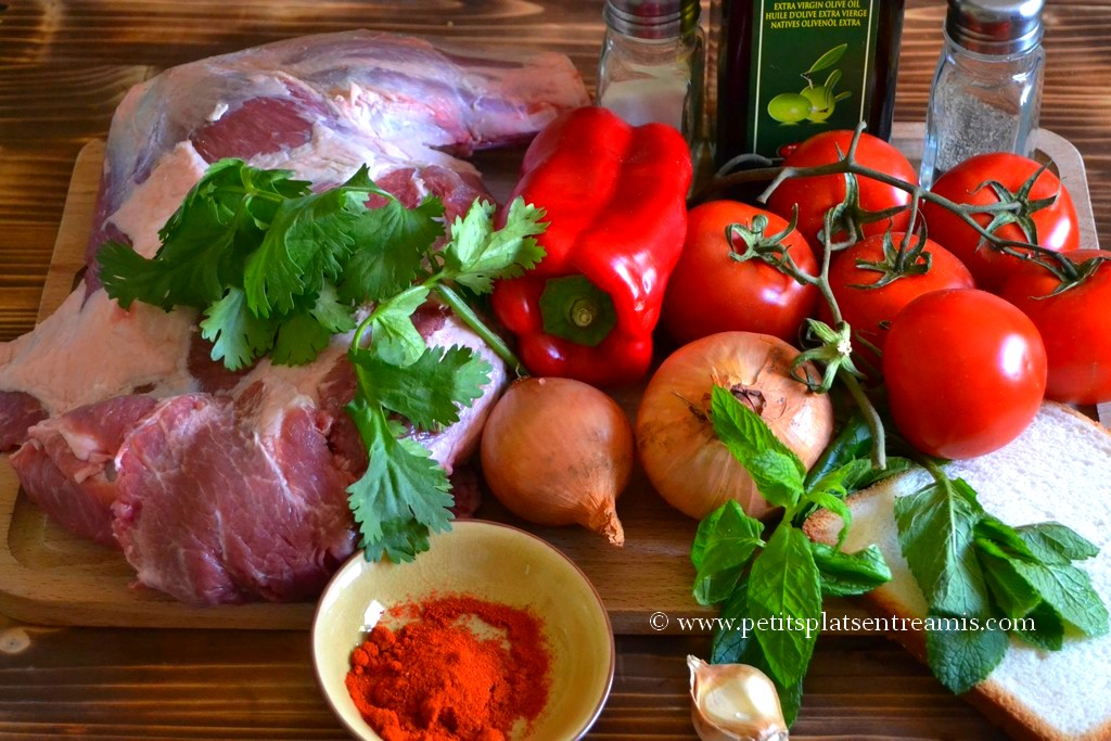 ingrédients boulettes d'agneau à la provençale