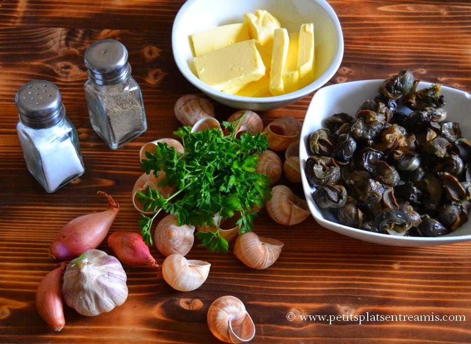 ingrédients pour escargots au beurre persillé