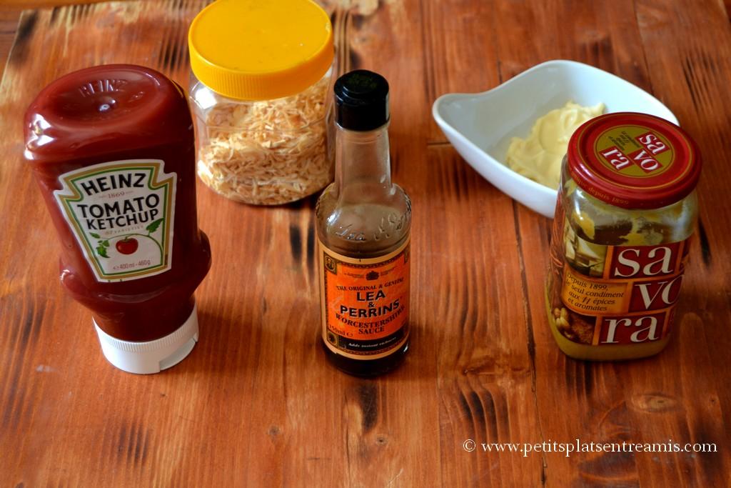 ingrédients pour sauce hamburger