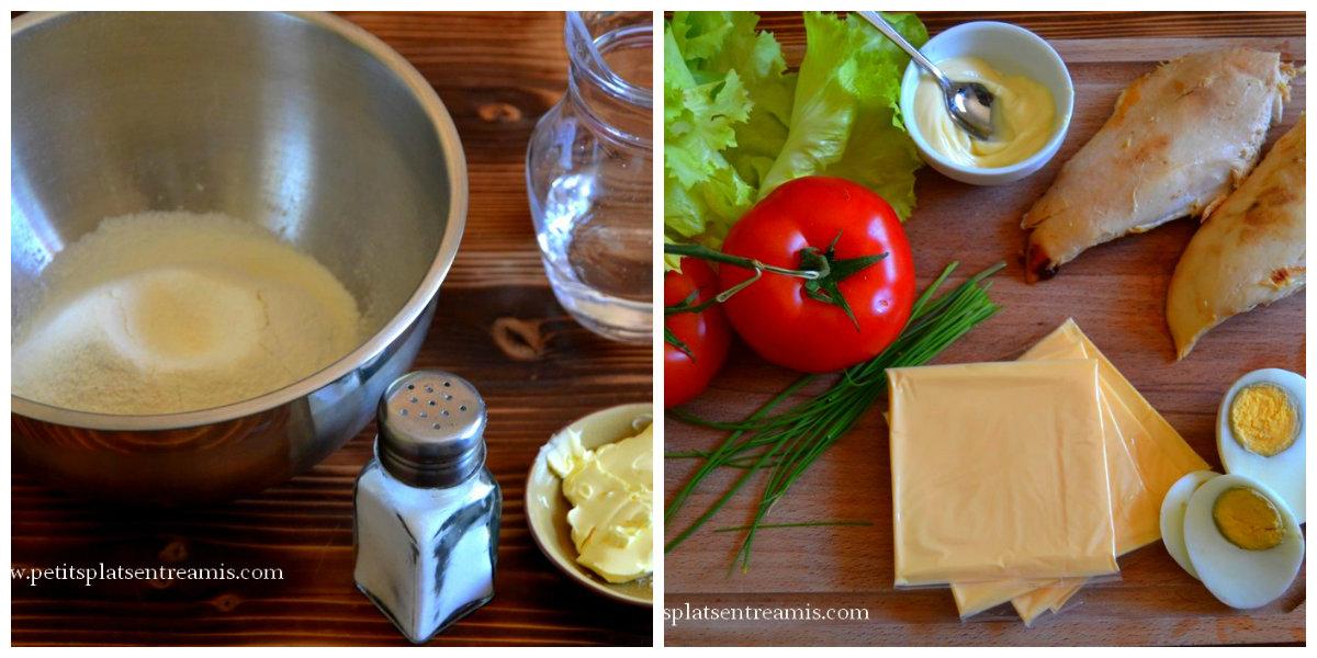 ingrédients wrap poulet