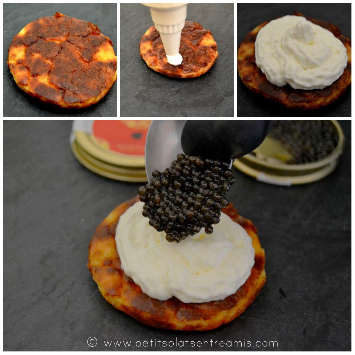 montage du médaillon au caviar