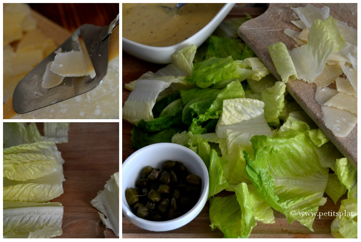 préparation salade césar