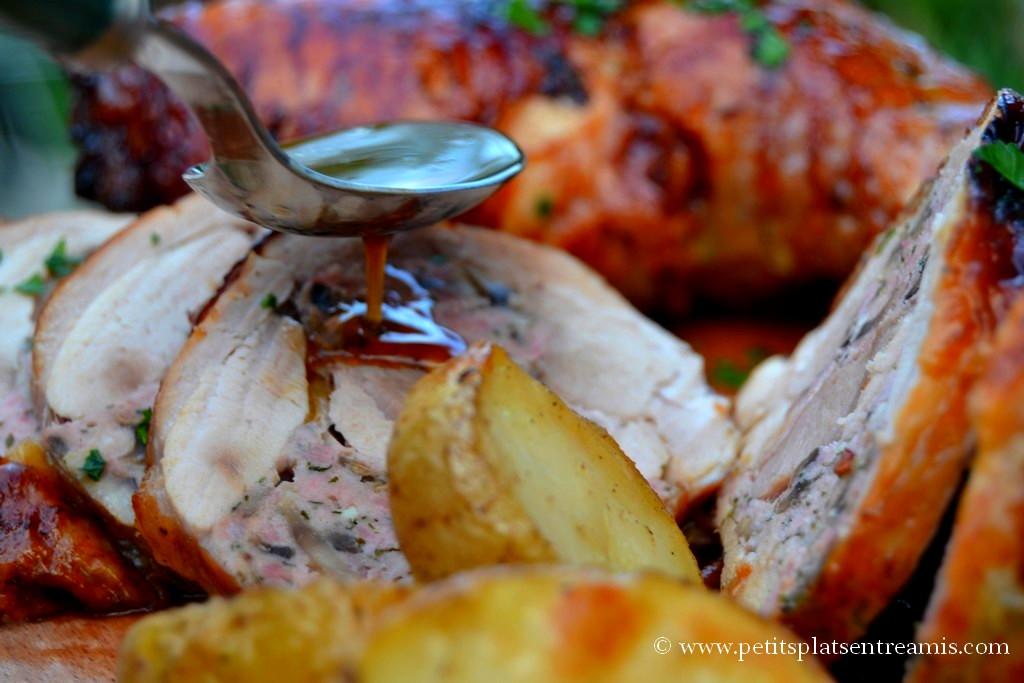 sauce sur cuisse de dinde farcie