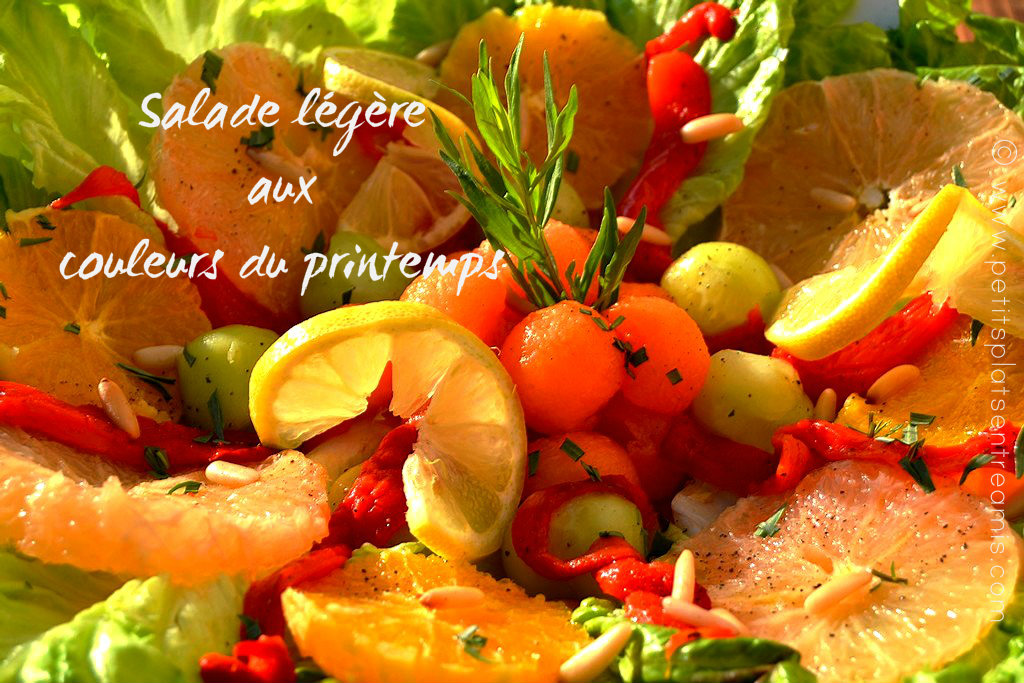 Salade légère aux couleurs du printemps