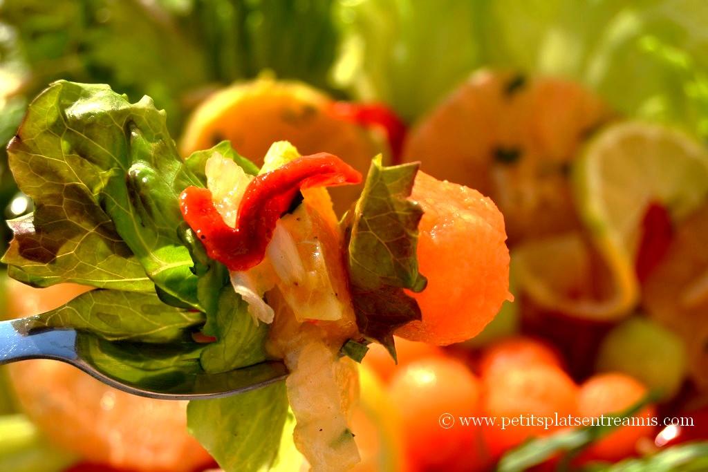 bouchée de salade légère aux couleurs du printemps