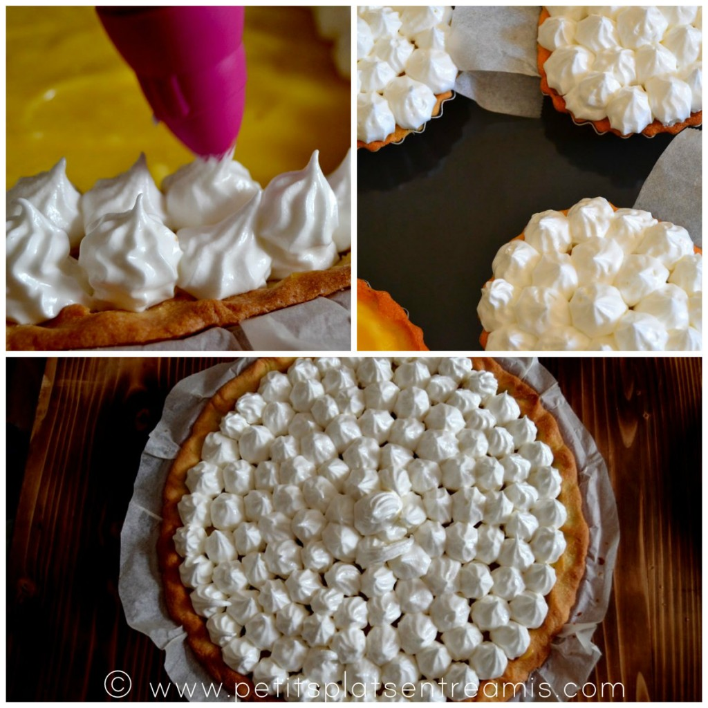 garnissage meringue sur tarte
