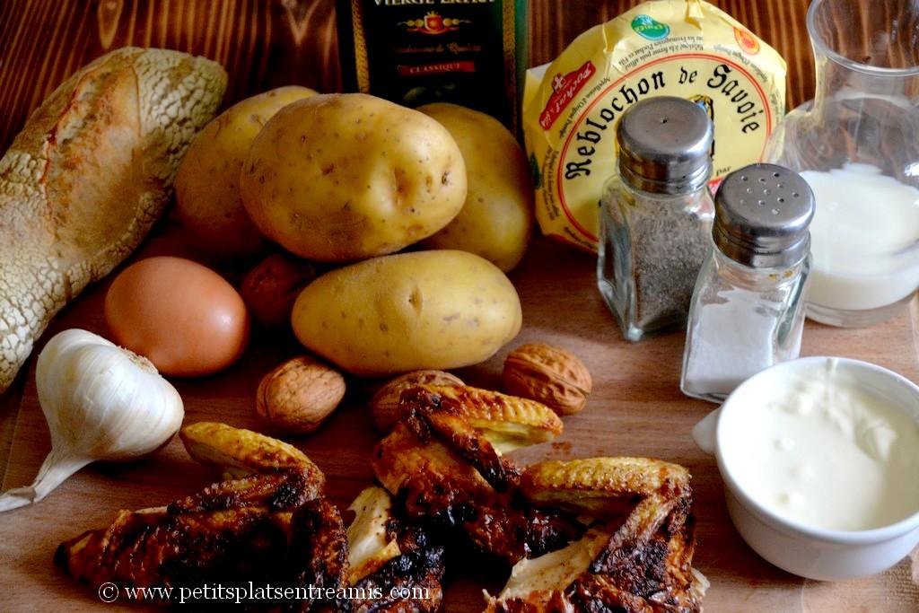 ingrédients pour pommes de terre au reblochon