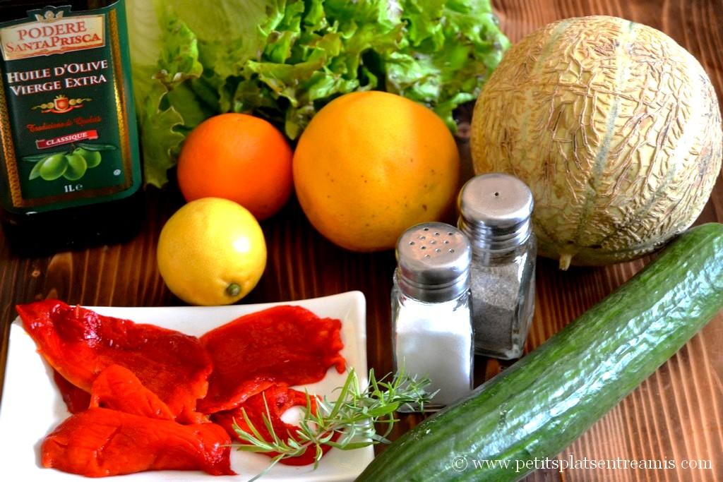 ingrédients pour salade minceur aux couleurs du printemps