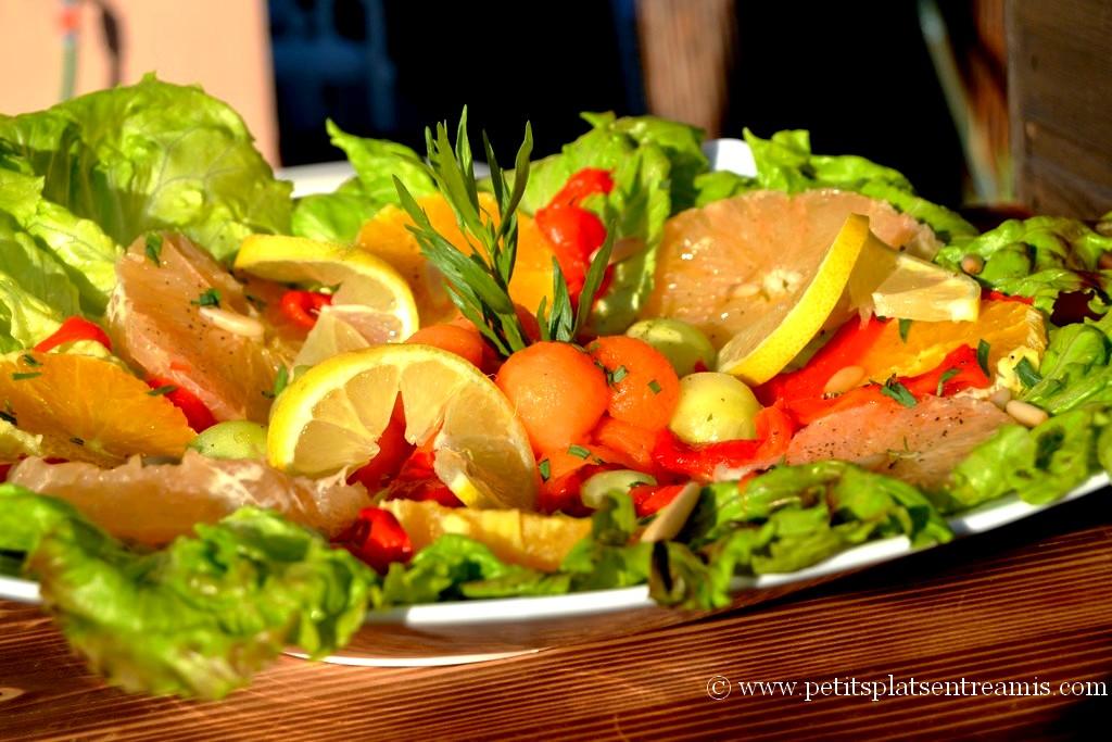 présentation salade légère aux couleurs du printemps
