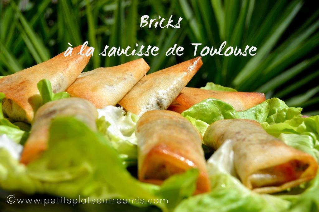 Bricks à la saucisse de Toulouse