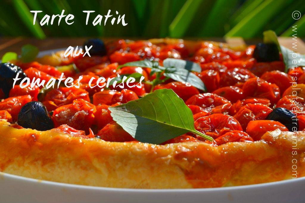 Tarte Tatin aux tomates cerises