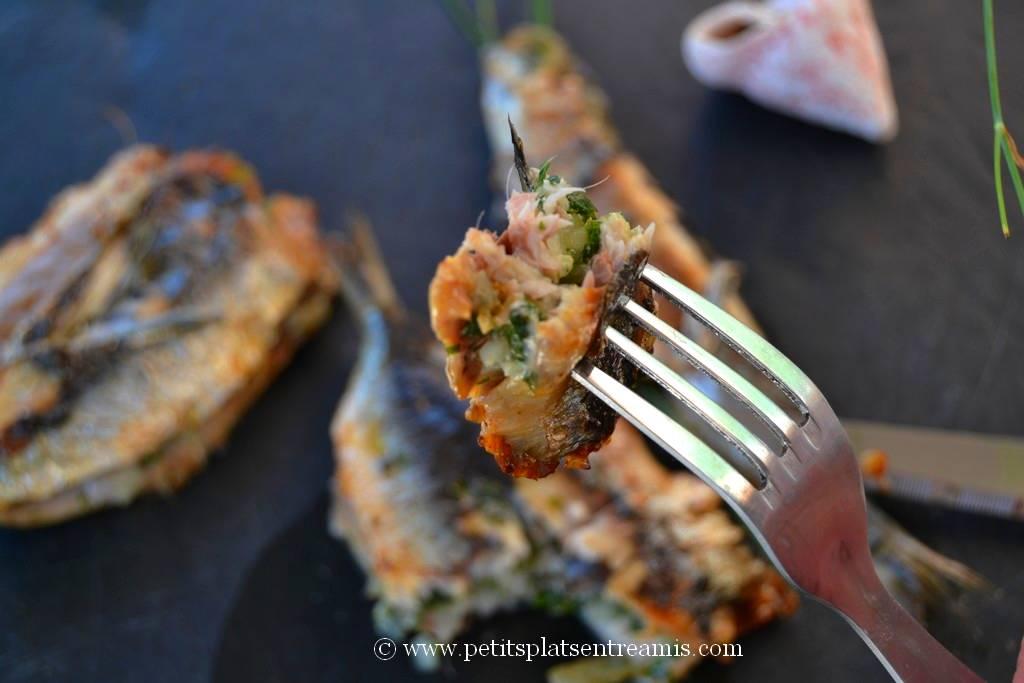 bouchée de sardine farcie grillée