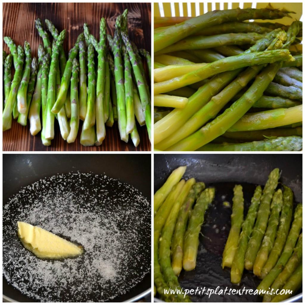 cuisson des asperges braisées