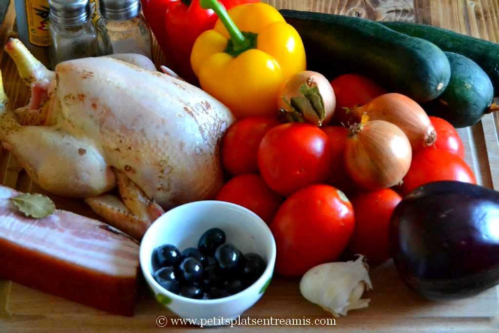 ingrédients poulet à la provençale