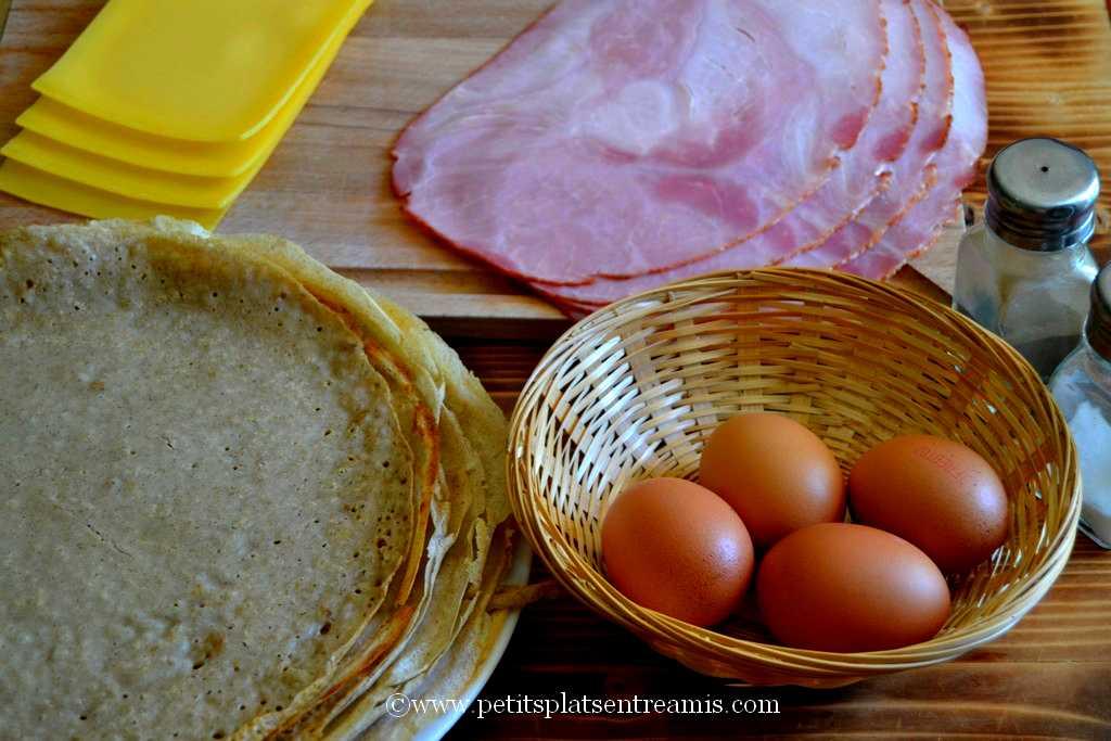 ingrédients pour crêpes au sarrasin complètes