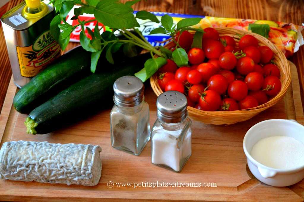 ingrédients pour tarte tatin aux tomates cerises