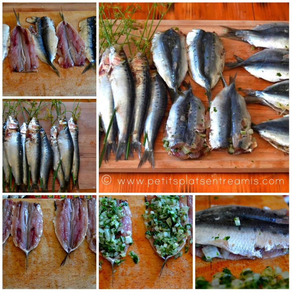 préparation sardines farcies grillées