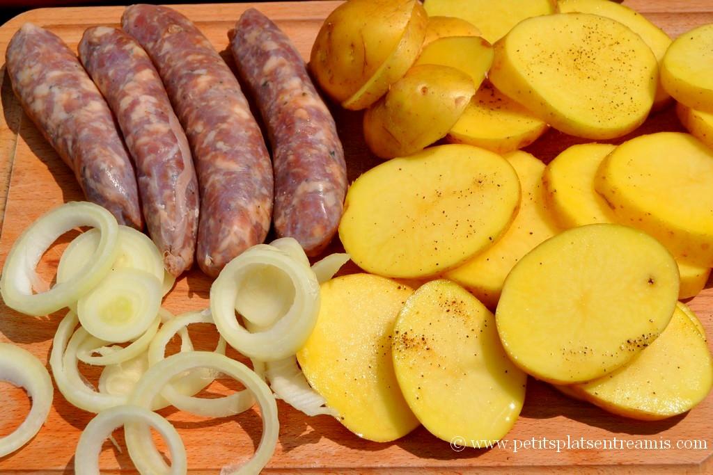 préparation tapas de saucisses campagnarde