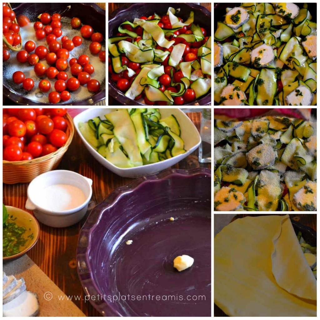 préparation tarte Tatin aux tomates cerises