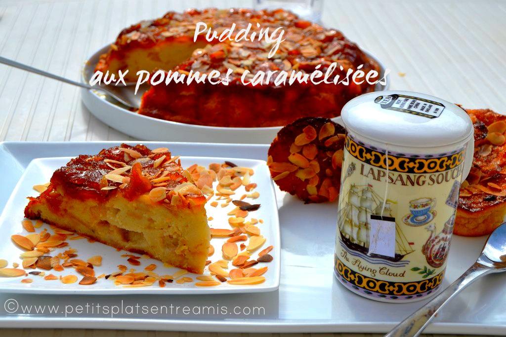 pudding aux pommes caramélisées