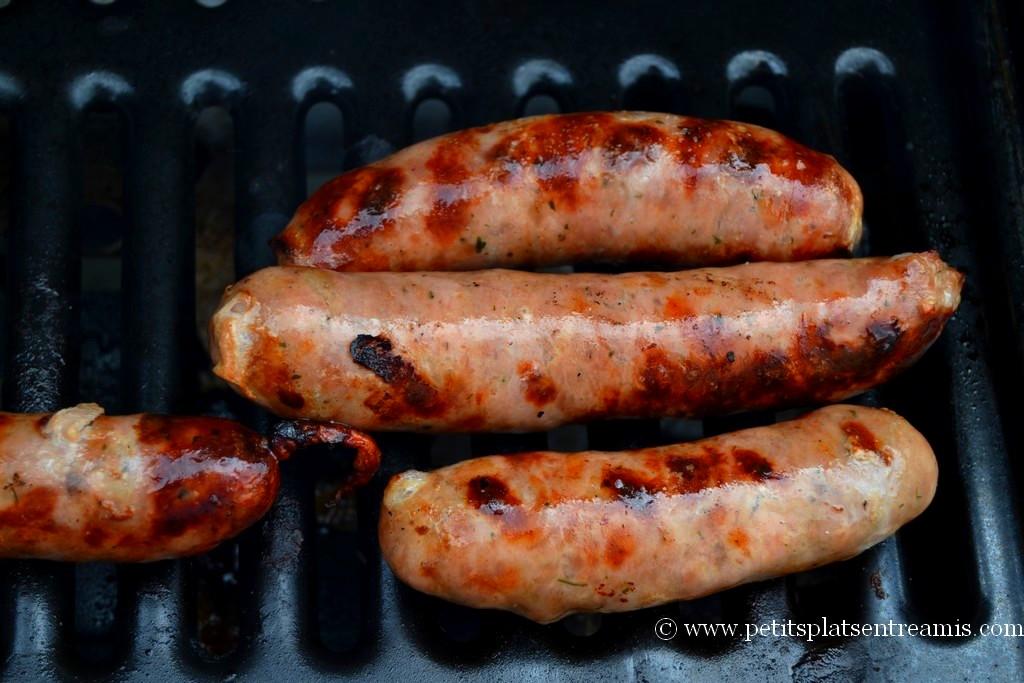 saucisses campagnardes au barbecue