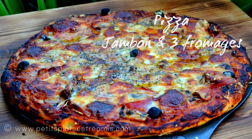 Pizza jambon & 3 fromages