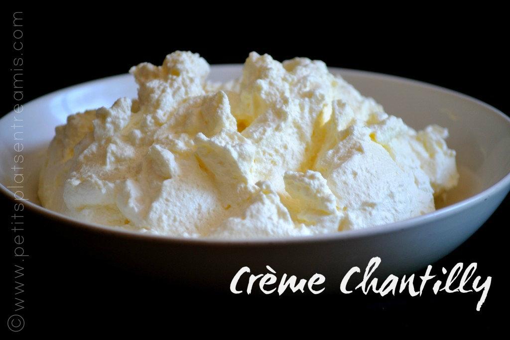 bol de crème chantilly