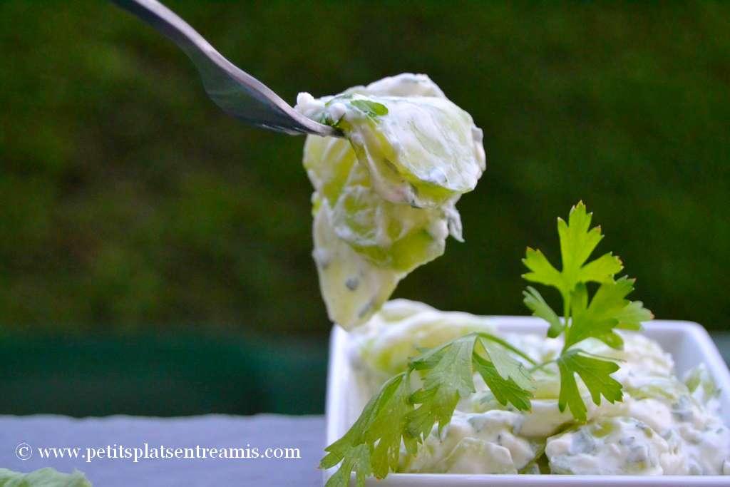 bouchée de concombre à la crème