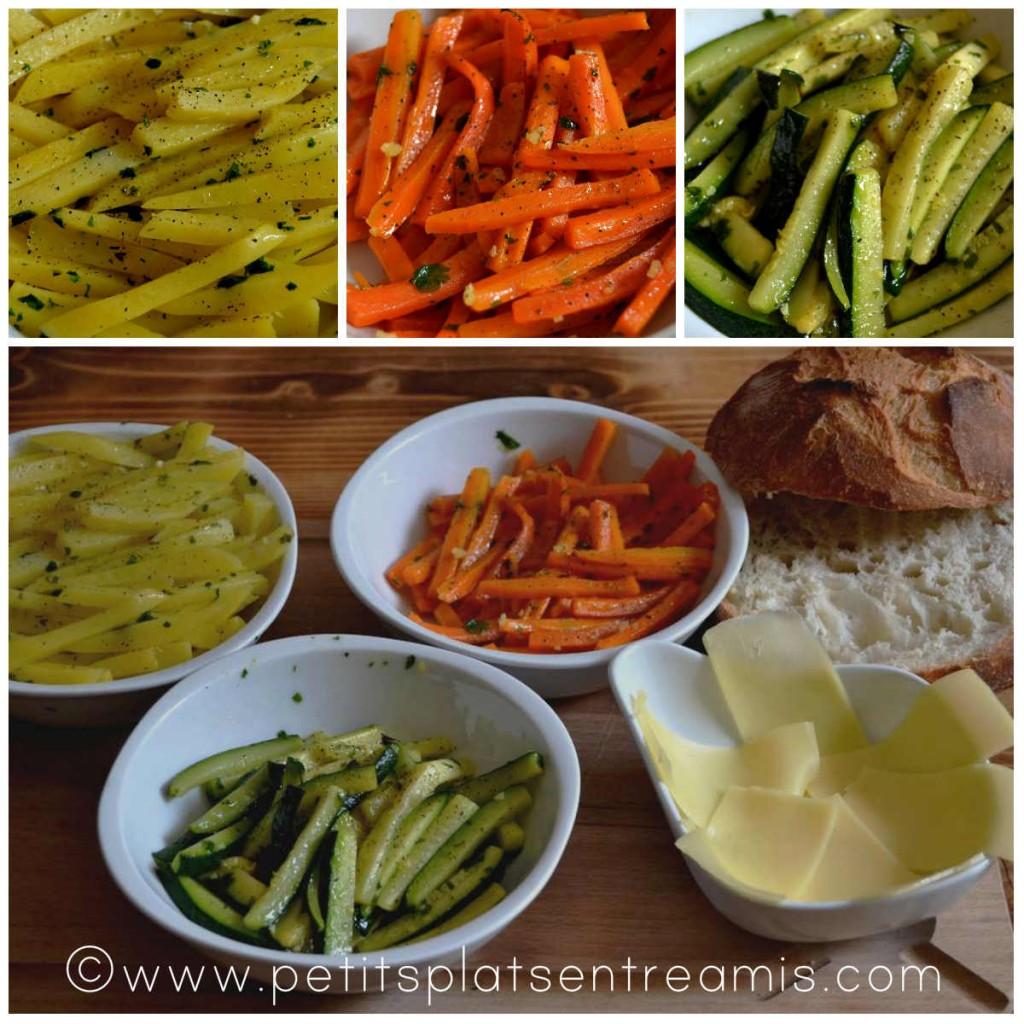 cuisson des légumes pour burger