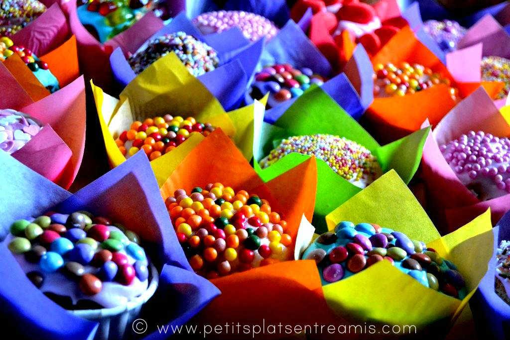 présentation cupcakes