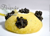 Financier au caviar