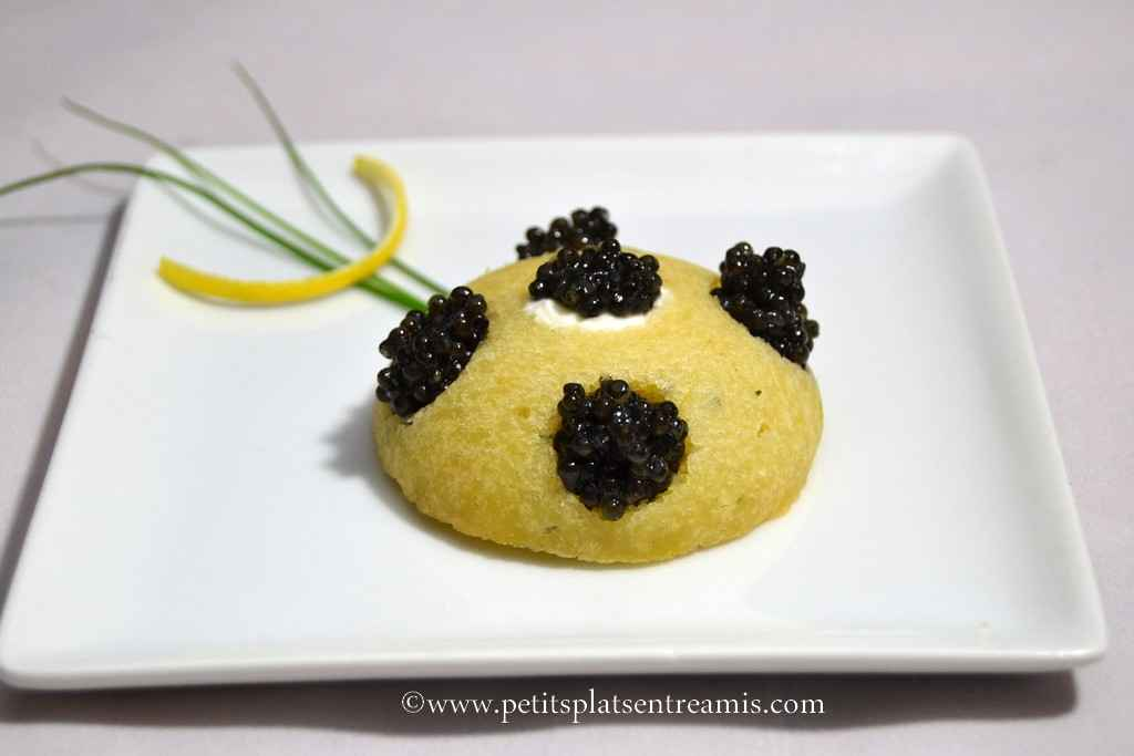 assiette de financier au caviar