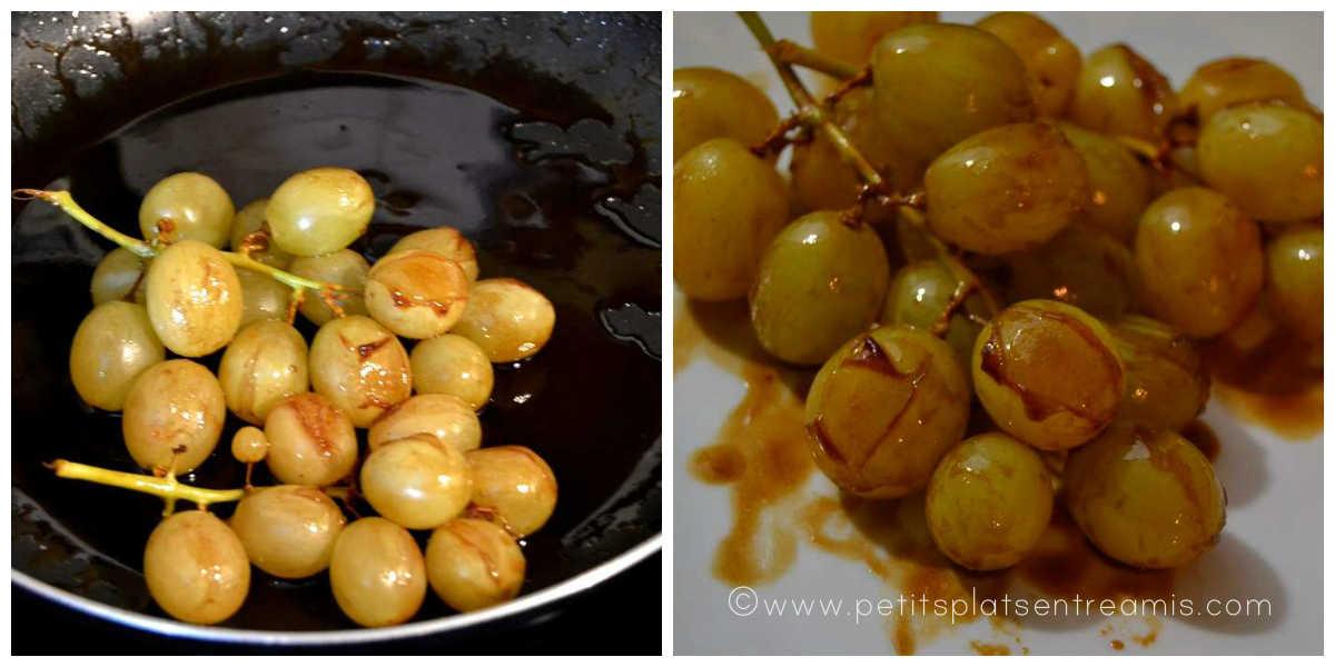 caramélisation du raisin