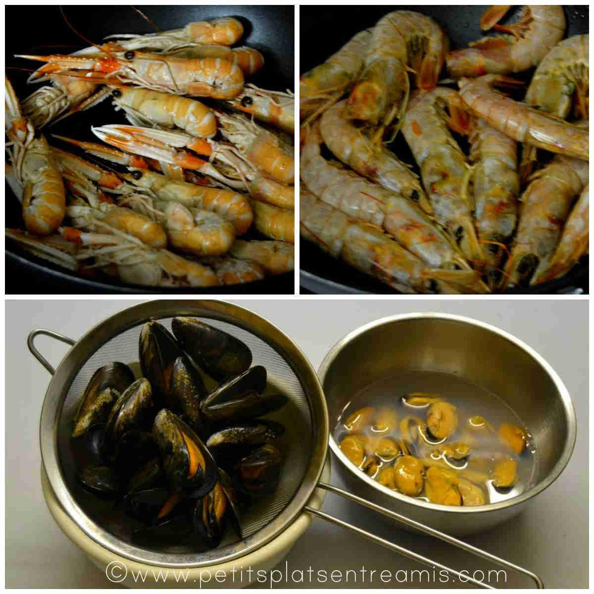 cuisson des crustacés pour paella