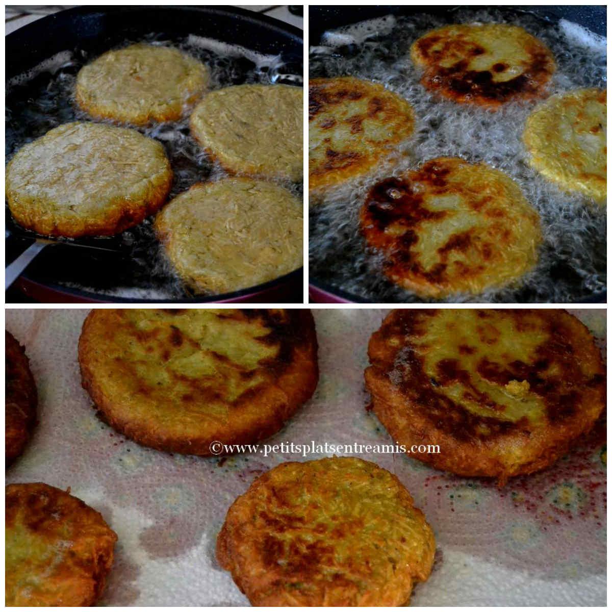 cuisson des galettes de patates douces