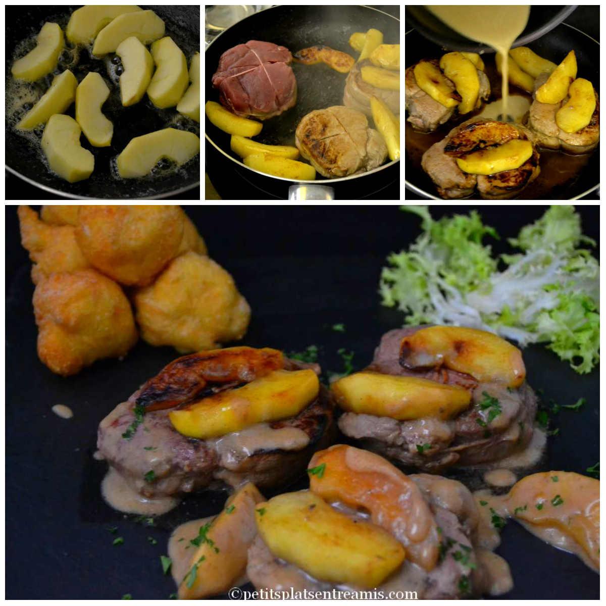 cuisson des pavés de veau aux pommes